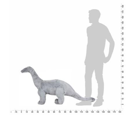 vidaXL Jouet en peluche Dinosaure Brachiosaurus Gris XXL[4/4]