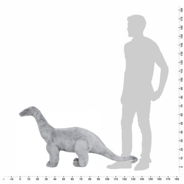 vidaXL Plüschtier Stehend Brachiosaurus Dinosaurier Grau XXL[4/4]