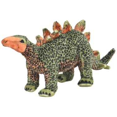 vidaXL Dinosaurio Estegosaurio de peluche de pie verde y naranja XXL[1/4]