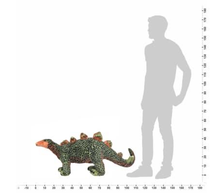 vidaXL Dinosaurio Estegosaurio de peluche de pie verde y naranja XXL[4/4]