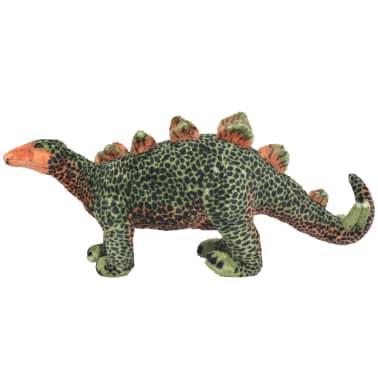 vidaXL Dinosaurio Estegosaurio de peluche de pie verde y naranja XXL[2/4]