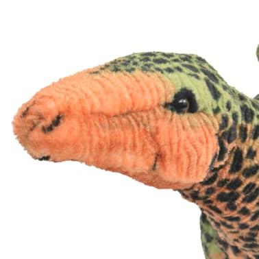 vidaXL Dinosaurio Estegosaurio de peluche de pie verde y naranja XXL[3/4]