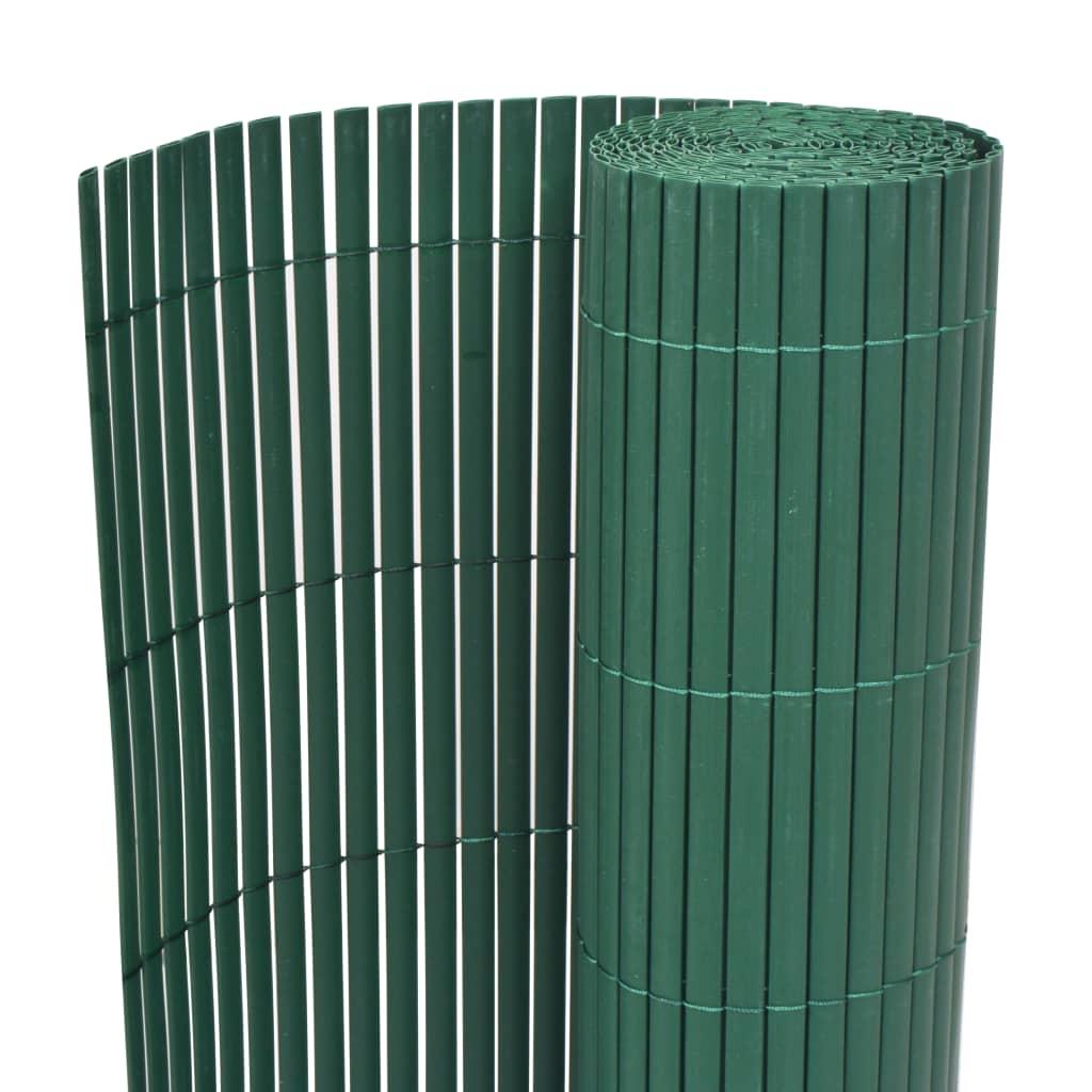 vidaXL Oboustranný zahradní plot PVC 90 x 300 cm zelený