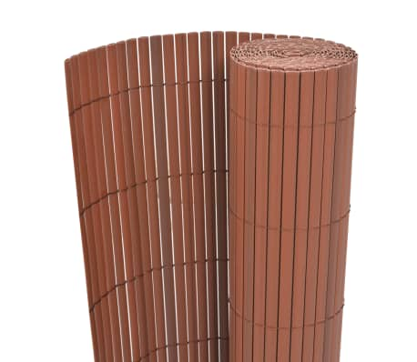 vidaXL Double-Sided Garden Fence PVC 90x300 cm Brown