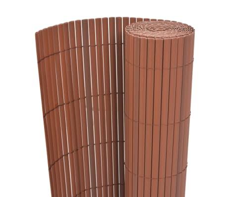 vidaXL Dwustronne ogrodzenie ogrodowe, PVC, 90x300 cm, brązowe