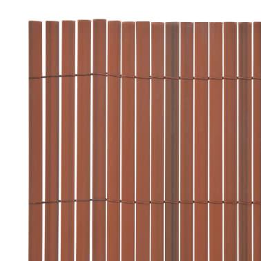 vidaXL Clôture de jardin Double face 90 x 300 cm Marron[3/5]