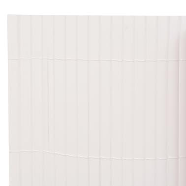 vidaXL Clôture de jardin Double face 90 x 500 cm Blanc[3/5]