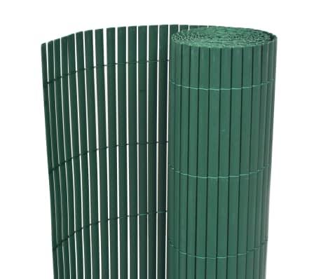 vidaXL Kaksipuolinen puutarha-aita PVC 90x500 cm vihreä