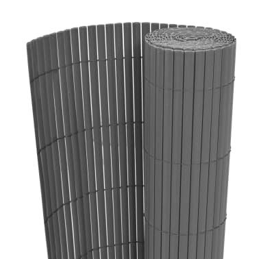 vidaXL dobbeltsidet havehegn PVC 90 x 500 cm grå[1/5]