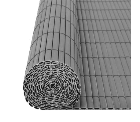 vidaXL dobbeltsidet havehegn PVC 90 x 500 cm grå[5/5]