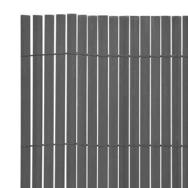 vidaXL dobbeltsidet havehegn PVC 90 x 500 cm grå[3/5]