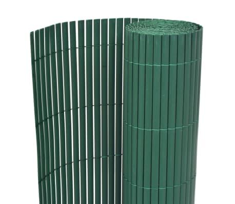 vidaXL Kaksipuolinen puutarha-aita PVC 150x300 cm vihreä