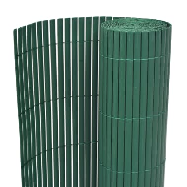 vidaXL Clôture de jardin Double face PVC 150 x 300 cm Vert[1/5]