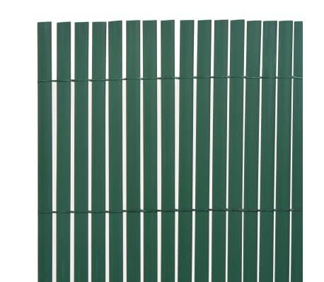 vidaXL Clôture de jardin Double face PVC 150 x 300 cm Vert[3/5]