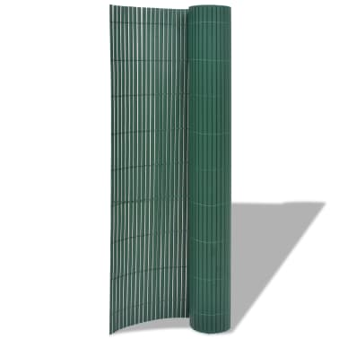 vidaXL Clôture de jardin Double face PVC 150 x 300 cm Vert[2/5]