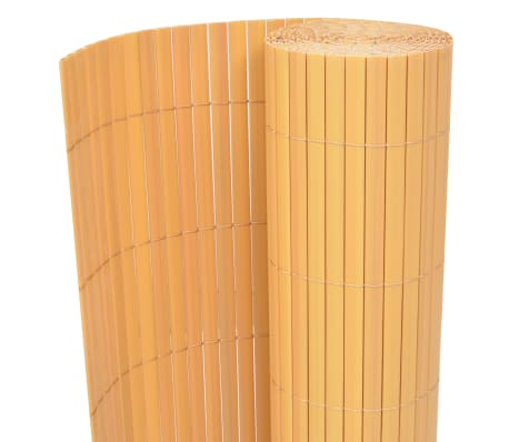vidaXL Double-Sided Garden Fence PVC 150x300 cm Yellow