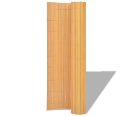 vidaXL Double-Sided Garden Fence 150x300 cm Yellow[2/5]