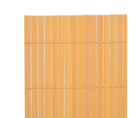 vidaXL Double-Sided Garden Fence 150x300 cm Yellow[3/5]