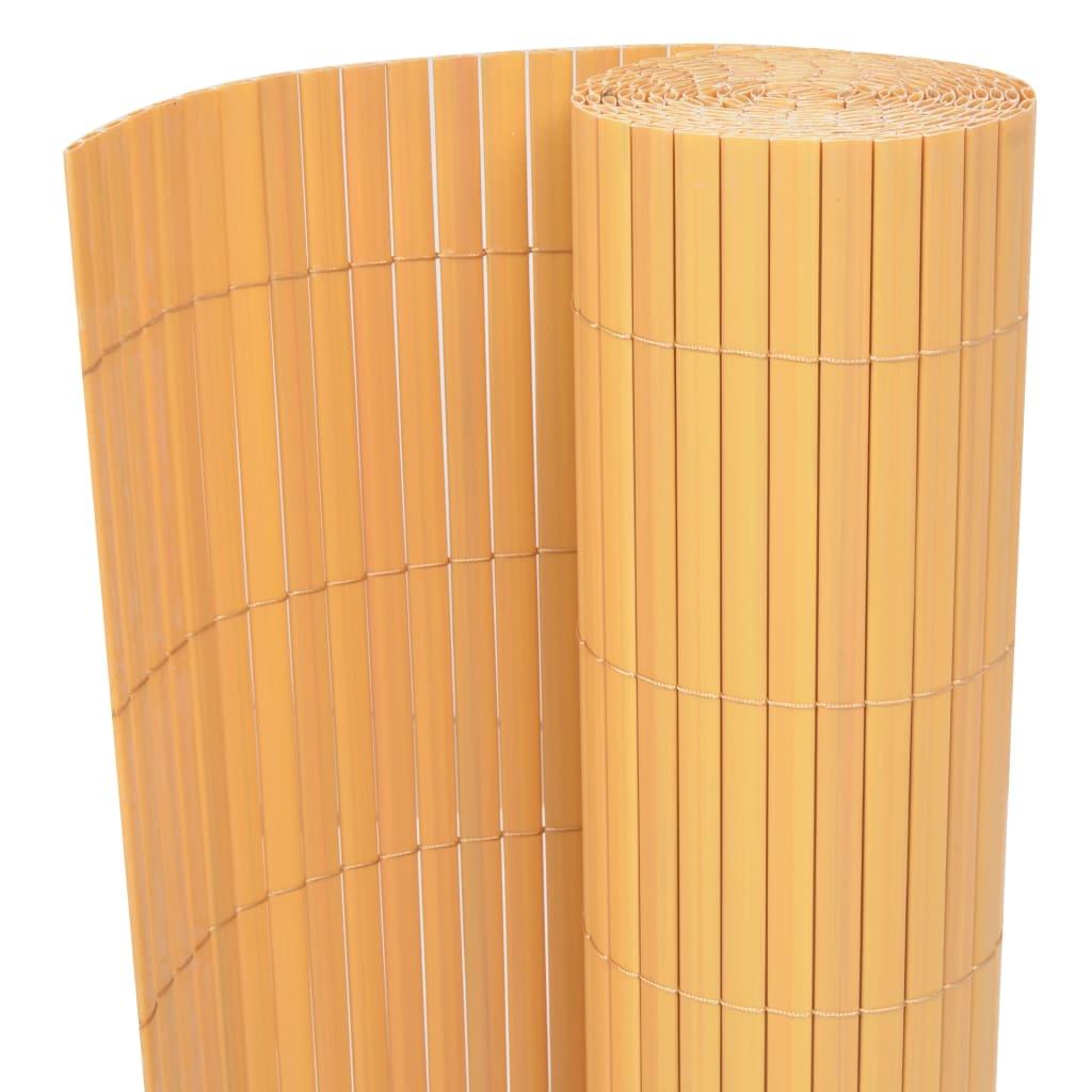vidaXL dobbeltsidet havehegn PVC 150 x 500 cm gul