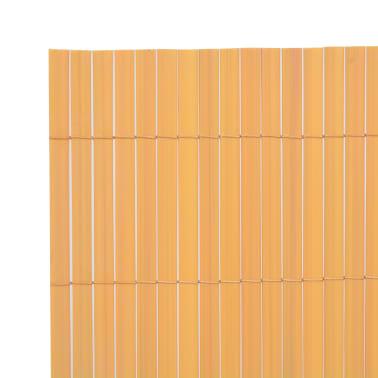 vidaXL Двустранна градинска ограда, 195x300 см, жълта[3/5]