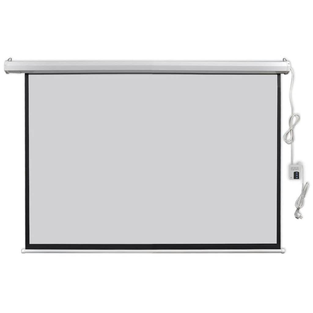 vidaXL Elektrické promítací plátno, dálkové ovládání, 160x90 cm, 16:9