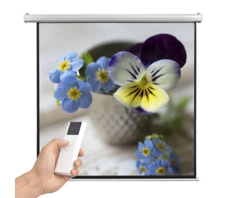 vidaXL Прожекционен екран с дистанционно управление, 160x160 см, 1:1[2/5]