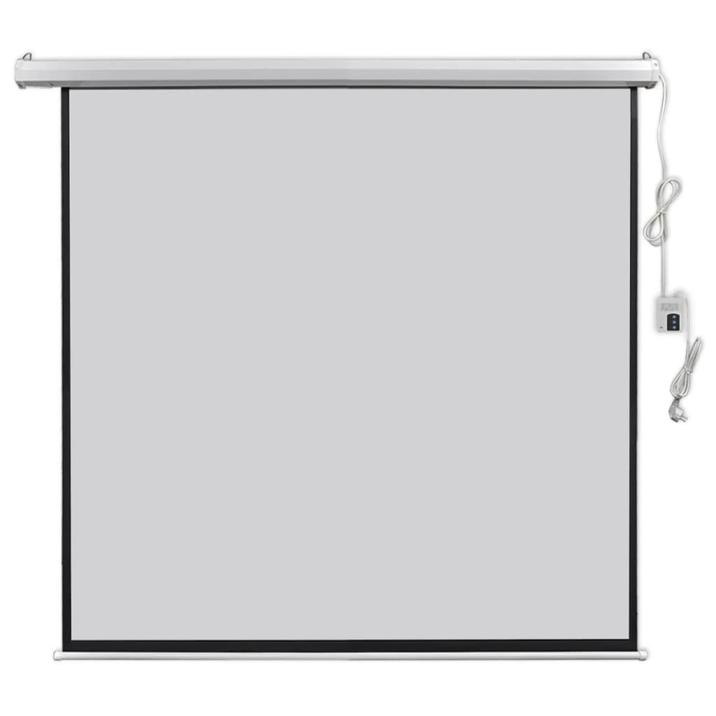vidaXL Elektrické promítací plátno, dálkové ovládání, 160x160 cm, 1:1