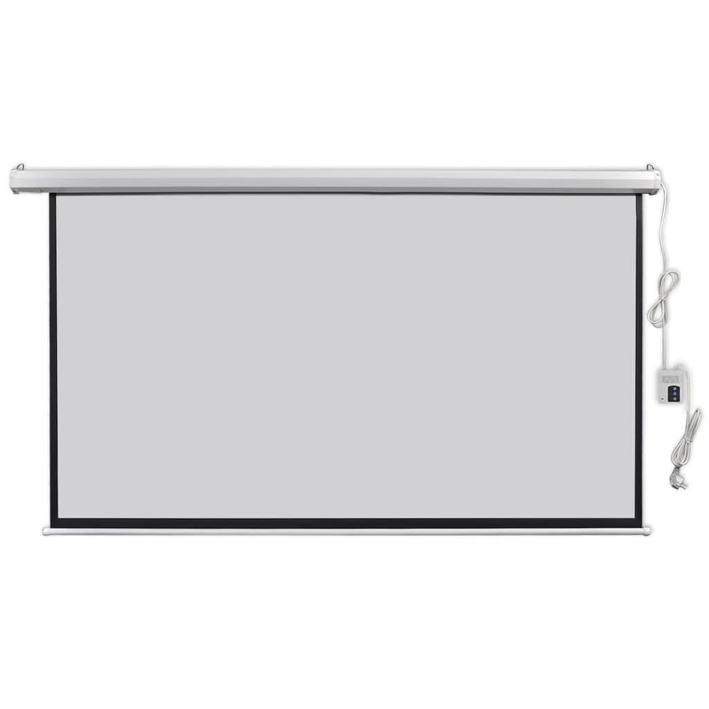 vidaXL Ecran proiector electric, telecomandă 200x113 cm 16:9 imagine vidaxl.ro