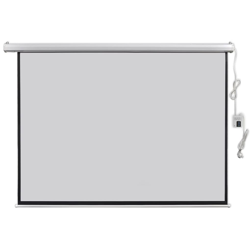 vidaXL Ecran proiector electric cu telecomandă 200x153 cm 4:3 imagine vidaxl.ro