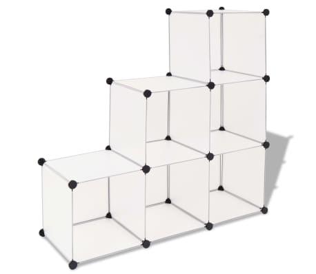 vidaxl regalsystem w rfel regal mit 6 f chern wei g nstig kaufen. Black Bedroom Furniture Sets. Home Design Ideas
