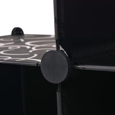 vidaXL Estantería de cubos con 6 compartimentos negro[4/5]