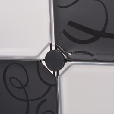 vidaXL fekete és fehér kocka alakú tároló 9 tárolórekesszel[4/5]