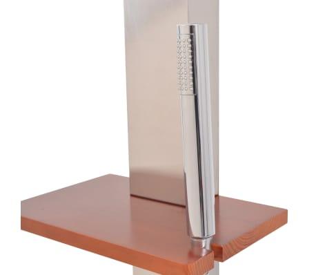 vidaXL Außendusche Gebürsteter Edelstahl 210 cm[5/11]