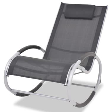 vidaXL Supama sodo kėdė, aliuminis ir tekstilenas[1/7]