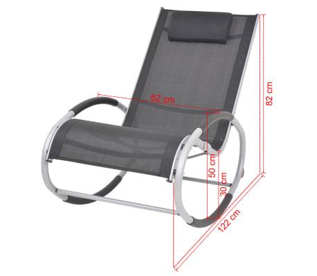 vidaXL Supama sodo kėdė, aliuminis ir tekstilenas[7/7]