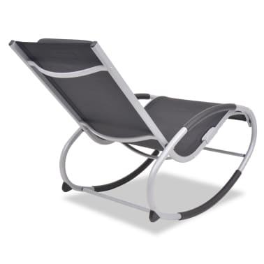 vidaXL Supama sodo kėdė, aliuminis ir tekstilenas[3/7]