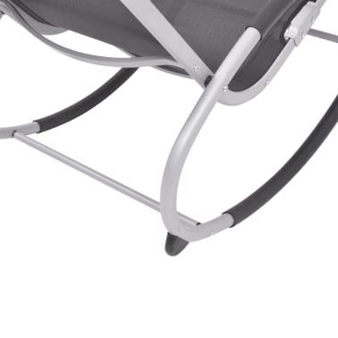 vidaXL Supama sodo kėdė, aliuminis ir tekstilenas[4/7]