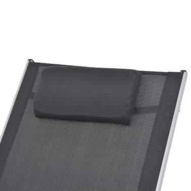 vidaXL Supama sodo kėdė, aliuminis ir tekstilenas[5/7]