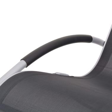 vidaXL Supama sodo kėdė, aliuminis ir tekstilenas[6/7]