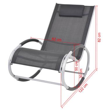 Vidaxl sedia a dondolo da giardino in alluminio e textilene - Sedia a dondolo da giardino ...