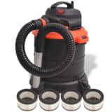 vidaXL Ash Vacuum Cleaner 1200 W 20 L Black and Orange