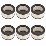 vidaXL HEPA Filters for Ash Vacuum Cleaner 6 pcs White and Black