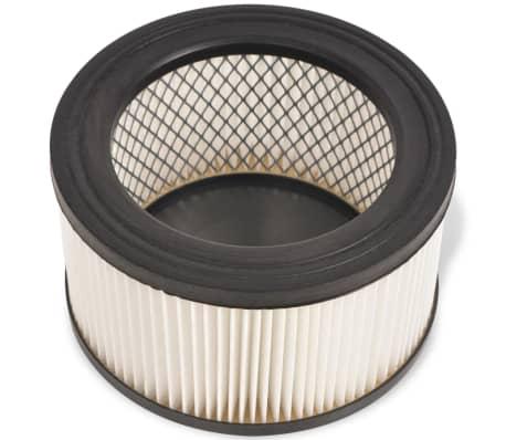 vidaxl hepa filter f r aschesauger 6 stk wei und schwarz g nstig kaufen. Black Bedroom Furniture Sets. Home Design Ideas