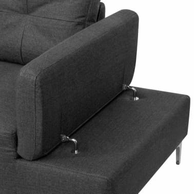 vidaXL Sofa in L-Form mit Ablagefläche aus Holz Stoff Grau XXL 300 cm[6/8]