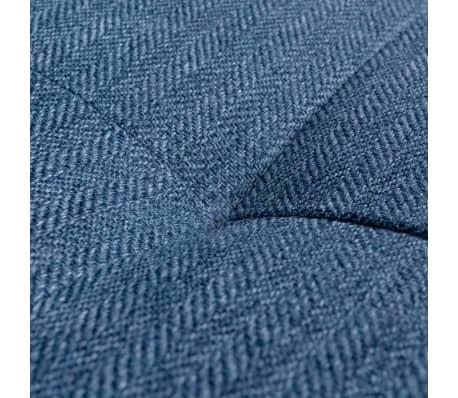 vidaXL Canapé en L avec plateau en bois Tissu Bleu XXL 300 cm[7/8]