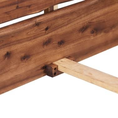 vidaXL Lovos rėmas, masyvi akacijos mediena, rudas, 140x200cm[5/6]