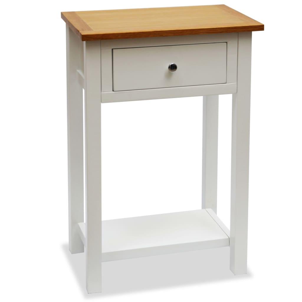 vidaXL Odkládací stolek, masivní dub, 50x32x75 cm