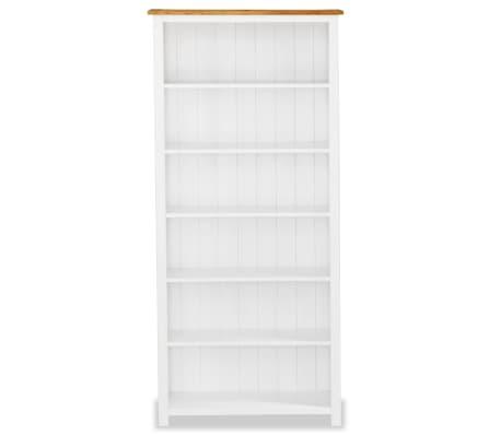 acheter vidaxl biblioth que 6 tag res ch ne massif 80 x 30 x 180 cm pas cher. Black Bedroom Furniture Sets. Home Design Ideas