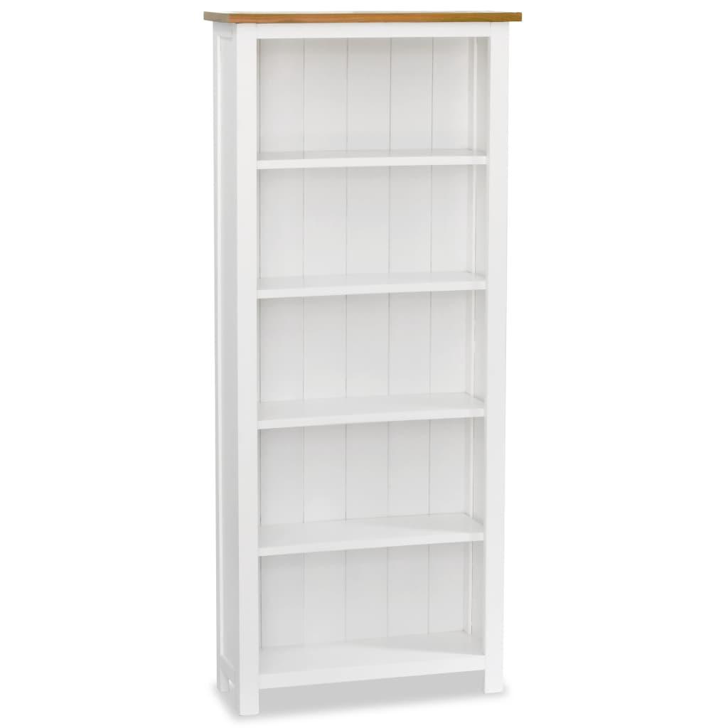 vidaXL Knihovna s 5 policemi, masivní dub, 60x22,5x140 cm