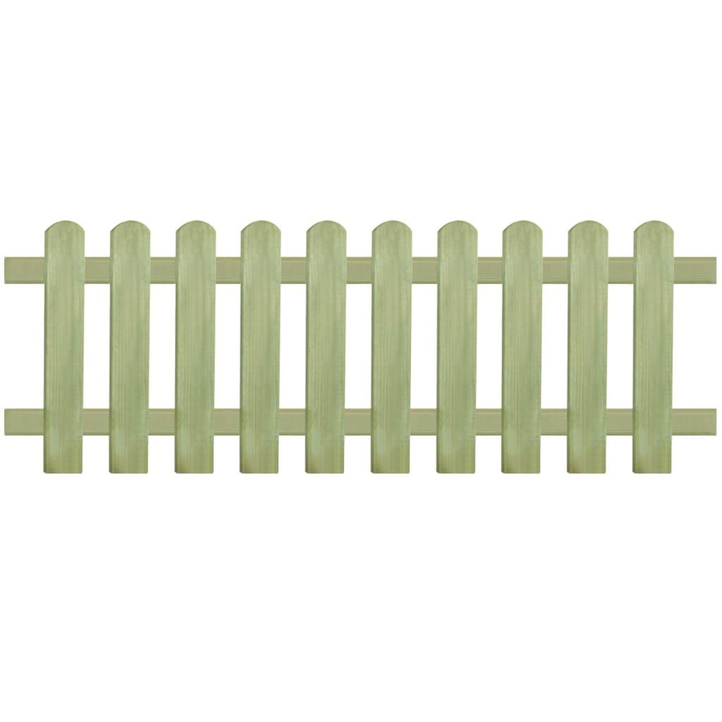 vidaXL Laťkový plot, impregnovaná borovice, 170x60 cm, 6/9 cm